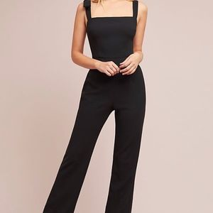 Black Halo Anthropologie Bow Strap Dana Jumpsuit